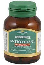 Natures Own Food State Antioxidant Plus CoQ10, 30 vegetarian tabletas