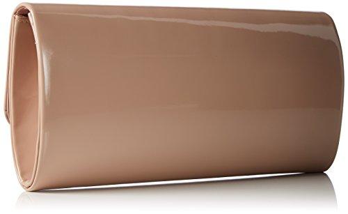 Berydale Borsetta in Vernice da Donna, Clutch, Borsa a Tracolla con Catena Opzionale e Chiusura Magnetica Multicolore (Beige/Stone)