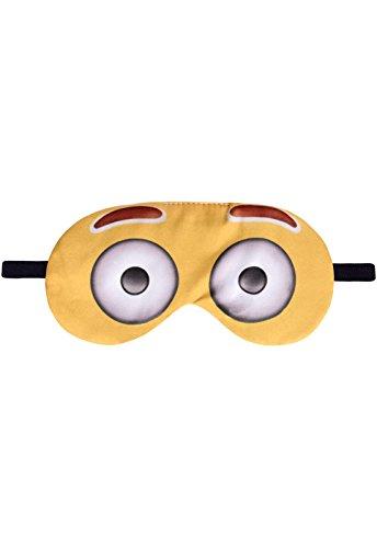 Schlafbrille Emoji Big Eyes Emoticon Fun Schlafmaske Brille Augenmaske Augenbinde Sleep Eye Mask Schlafhilfe