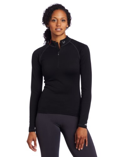 Pearl Izumi Damen Langärmliges Baselayer Thermal Zip Neck, black