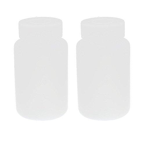 DealMux 2ST 250 ml weiße Kunststoff-Doppel Cap Lab Bottle (Weiß Bottle Caps)