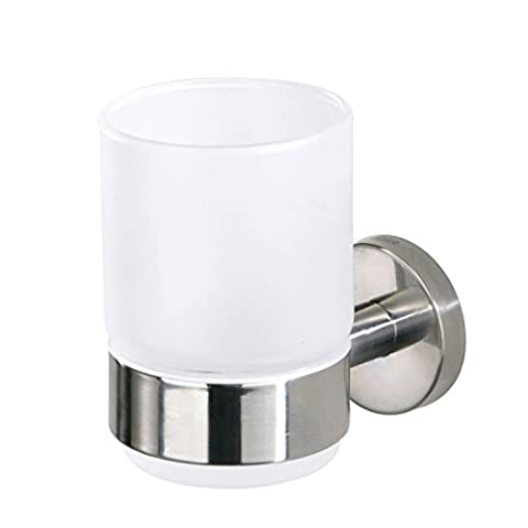Boston Stainless Steel Glass Beaker and Holder, Chrome
