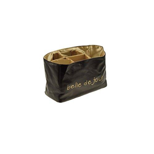 Incidence Paris Casier Souple Gm-Belle de Jour Organiseur de Sac à Main, 24 cm, Noir