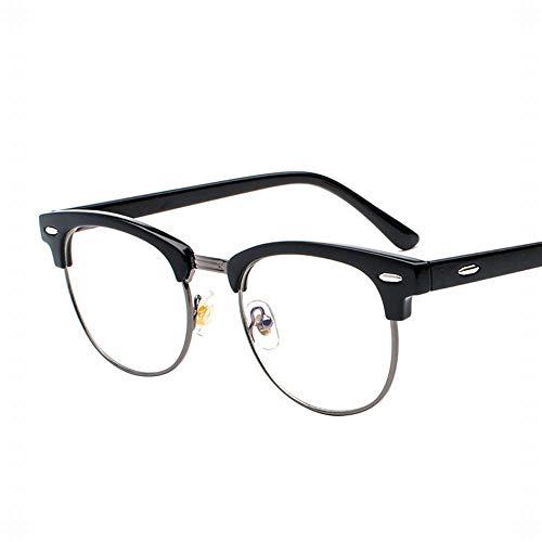 WULE-RYP Polarisierte Sonnenbrille mit UV-Schutz Herren Material Ultraleichte Flache Spiegelgläser Rahmen Optische Brillen. Superleichtes Rahmen-Fischen, das Golf fährt (Farbe : Black Frame-Grey)