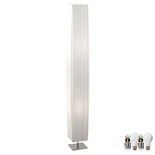 Steh Lampe Gästezimmer Decken Fluter Fernbedienung DIMMBAR EEK A+ im Set inkl. RGB LED Leuchtmittel