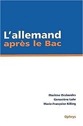 L'allemand après le Bac. IUT/BTS/Classes préparatoires