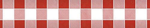 chtuchrolle Damast rot kariert (Rotes Papier Tischdecken)