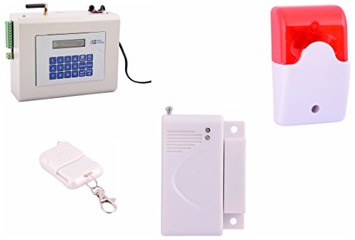Spriha Wireless GSM Burglar Alarm Smart Security System (Off-White)