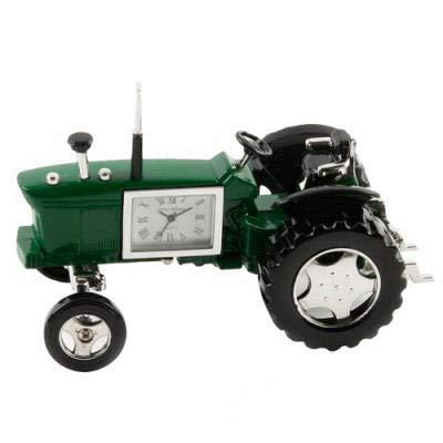Miniaturenuhr grüner Traktor Novelty Sammlertischuhr 9236G (Traktor Sammlerstücke)