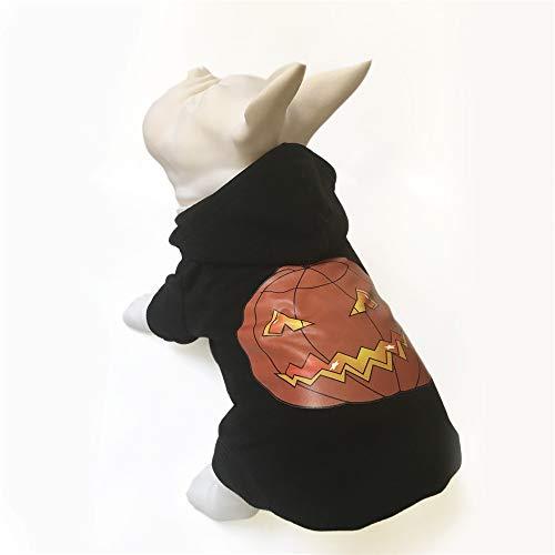 PET Halloween-Schoßhund Verkleidet herauf schwarzes Haustier-Herbst- und Winterurlaub-Kleid Oben Halloween-Kürbis-Kleid Costume Pet Kleidung für kleine Hunde (Farbe : Schwarz, größe : L)
