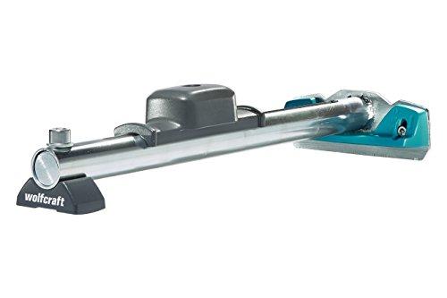 wolfcraft Hammer-Zugeisen 6945000 - Werkzeug zum Verlegen von Laminat & Parkett - 3-in-1-Funktion - Hammer, Schlagholz und Zugeisen in einem Produkt