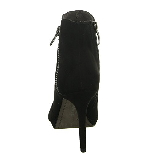 Tamaris 1-25343-25/907 Damen Schlupf/Reißverschlussstiefelette Kaltfutter eleganter Boden Black Uni