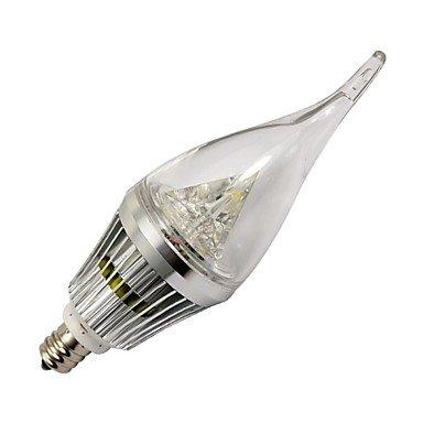 FDH 4W E14 / E12 Luces de velas LED 3 LED de alta potencia 210-240 lm / blanco cálido, blanco frío regulable 220-240 V CA,E12