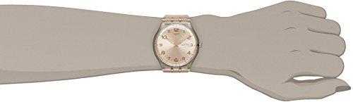 Swatch Damen-Armbanduhr Analog Quarz Silikon SUOK703 -