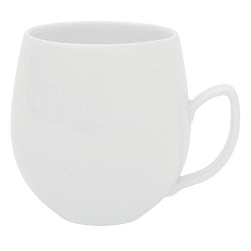DEGRENNE - Salam Thé lot de 6 mugs à thé, porcelaine - Blanc