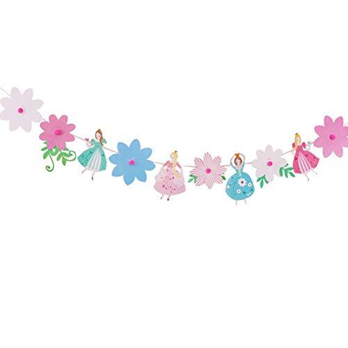 Ruiting Girlande Geburtstag Mädchen Prinzessin Karikatur Feierfest Deko Banner Geburtstag Märchen Baby Mädchen Geburtstag Jahrestag Party deko 1 Set.