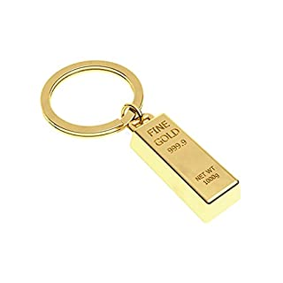 Amour Passion Gold Lingot Keyring with Charm