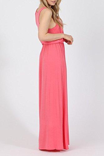 Damen -Ballon Toga Maxi Racerback -Kleid EUR Größe 36-42 Koralle