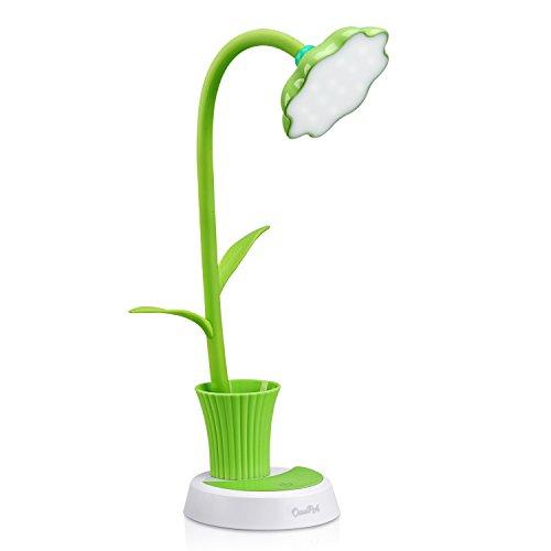 Schreibtischlampe für Kinder,OCOOPA LED Dimmbare Nachttischlampe mit Touchsensor,Augenfreundlich Leselampe mit Stifthalter,USB Wiederaufladbare Tischlampme für Kinder,Süße Nachttischlampe für Bett,Schlafzimmer,(Grün)