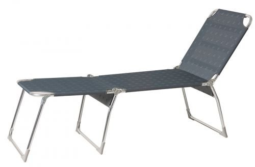 Chaise longue BACHATA Luxe anthracite