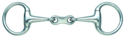 Shires Oliverkopfgebiss doppelt gebrochen 11,5 cm - SMALL RING FRENCH LINK EGGBUTT BRADOON 4,5