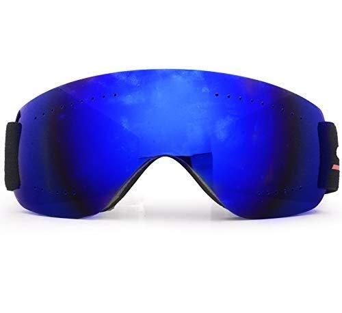 KJDFN Schöne Erwachsene Skibrille des Haushalts Beschlagfreie Sanddichte Brillenmänner Und -Frauen, Die Nicht Für Den Straßenverkehr Schneebrillenmotorrad Klettern Trend (Farbe : Blue)