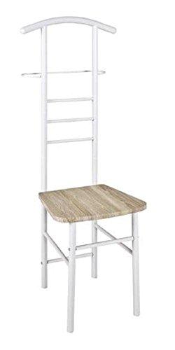 Haku silla Galán acero lacado blanco brillante, asiento