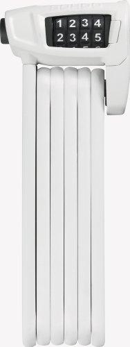 ABUS Faltschloss Bordo Combo Lite 6150/85, White, 85 cm, 52642