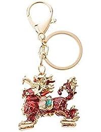 Banggood ELECTROPRIME Opal Crystal Kylin Keychain Keyring Bag Charm Key Ring Pendant Red