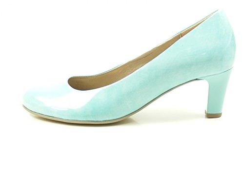 Gabor 85-200 Schuhe Damen Kaffir Lack Pumps Weite F, Schuhgröße:39;Farbe:Blau
