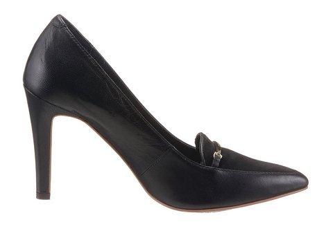 Tommy Hilfiger Damen Schuhe Lydia Glattleder Modisch Unifarben Schwarz