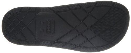 Crocs BeachLineFlip, Unisex-Erwachsene Zehentrenner Sandalen, Schwarz (Black/White 066), 38/39 EU -