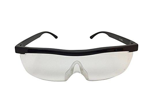 Vergrößerungsbrille Lupenbrille Zauberbrille Lupe auf der Nase 200% Softbag das Original aus dem deutschen Teleshopping (Schwarz)