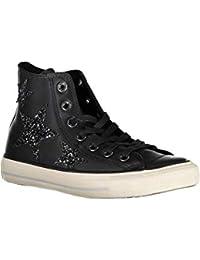 Converse Para Zapatillas Mujer Amazon Zapatos es Cuero Negras BCq5YOAwx