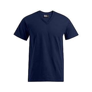Premium V-Ausschnitt T-Shirt Plus Size Herren, XXXL, Marineblau