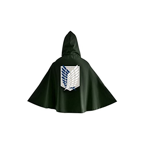 Attack on Titan Levi Ackerman - Scout Logo Cape grün one Size (Attack On Titan Kostüm Cape)
