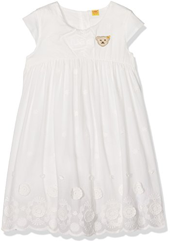 Steiff Baby - Mädchen Empire Kleid o. Arm 6712908, Einfarbig, Gr. 86, Weiß (cloud Dancer 1610) (Kleid Spitze Taufe Gestickte)