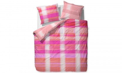 Essenza Ratna Mako-Satin-Bettwäsche 135x200 + 80x80 Pink