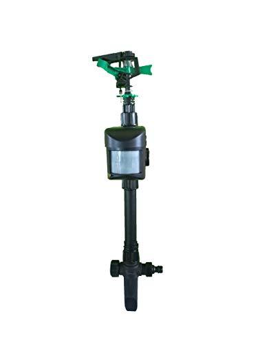 LQFLD Solarbetriebener wasserdichter Tiervogelvertreiber mit Wasser-Sprinkler Tiervertreiber Solarbetriebener Tiervertreiber-Sprinkler