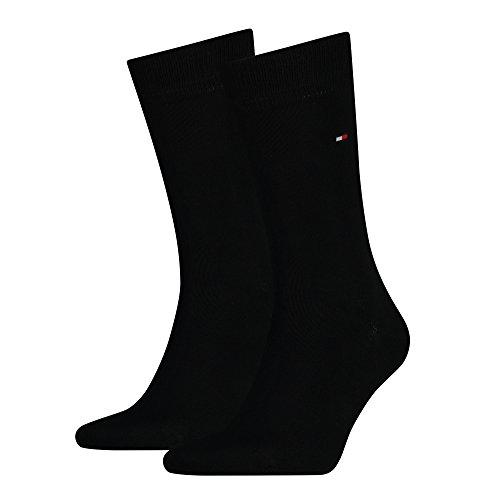 TOMMY HILFIGER Herren Classic Casual Business Socken 8er Pack  ( Black , 39 - 42 )  (Klassische 14 Herren Jeans)