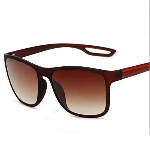 ZJHZJH Entworfene Männer, die Sonnenbrillen Vintage Goggle Black Shaded Male UV400 Fahren