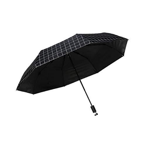 Parapluie Parapluie Simple Treillis Petit Frais Parapluie Pliant à Double Usage pliable