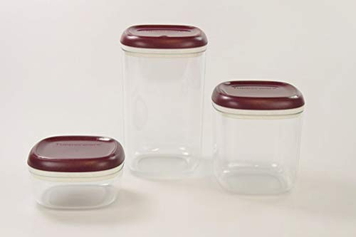 Tupperware Clear Collection 1,3 L+780 ml+ 240 ml Crystal Glitzer Bordeaux Vorrat 34050