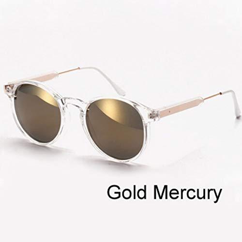 ZHOUYF Sonnenbrille Fahrerbrille Frauen Sonnenbrillen Transparenter Rahmen Anti Uv Sonnenbrille Rosa Flash Spiegel Sonnenbrille Weibliche Shades Sunglases Oculos, B
