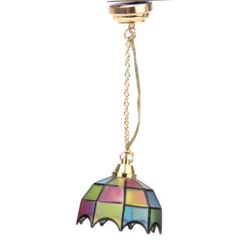 TOOGOO(R)Metallo 1:12 Casa soffitto lampada miniatura modello