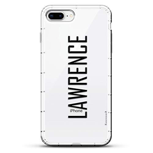 Luxendary Air Series Schutzhülle für iPhone 8/7 Plus, mit Luftpolster-Kissen, Transparent, Name: Lawrence, Stil MIT MODERNER Schriftart, farblos
