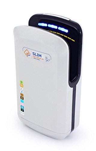 Händetrockner, Schneller und leistungsstarker handgefertigter Händetrockner mit Ein Trockenbodensystem, Handtrockner für Toiletten Silber - Jet Dryer SLIM