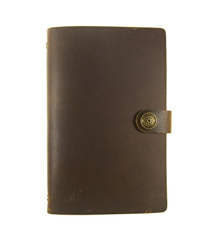 31RNWyYQfPL BEST BUY UK #1UNIQUE HM&LN Genuine Leather Planner A6 Journal Refillable Handmade Diary Loose leaf Notebook Gift price Reviews uk
