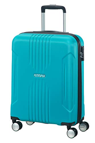 American Tourister Tracklite Spinner Small Valise 55 cm, Bleu Ciel (Bleu) - 88742/1809