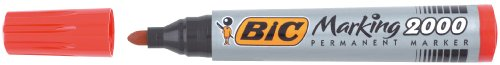 Bic 820913 Marquer Permanente 2000 Point Rouge